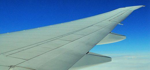 Vleugel van vliegtuig