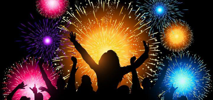 Dansende mensen op nieuwjaarsfeest - Algarve